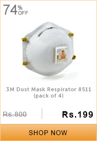 3M Dust Mask Respirator 8511 (pack of 4)