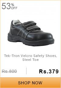 Tek-Tron Velcro Safety Shoes, Steel Toe