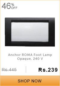 Anchor ROMA Foot Lamp Opaque, 240 V