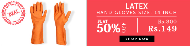 Latex Hand Gloves Size: 14 inch